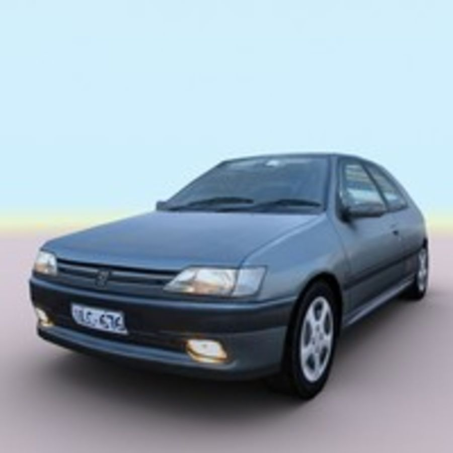 2002 Peugeot 306 royalty-free 3d model - Preview no. 1