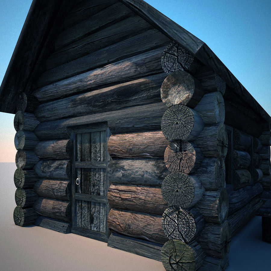 Old Wooden House royalty-free 3d model - Preview no. 8