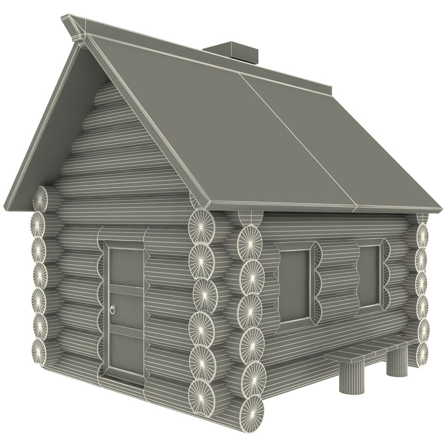 Old Wooden House royalty-free 3d model - Preview no. 12