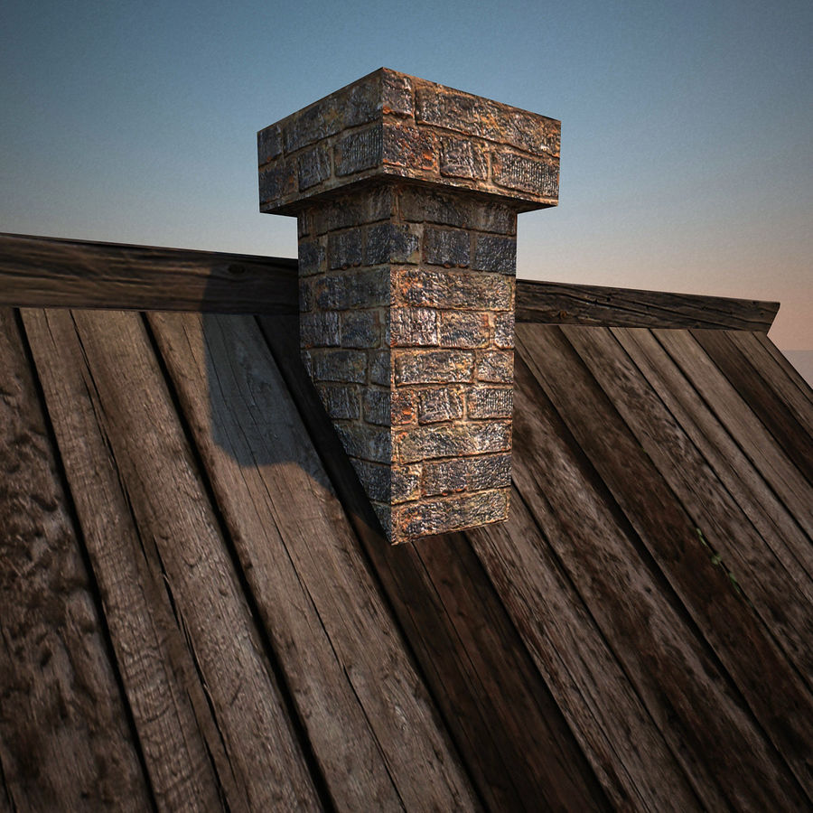 Old Wooden House royalty-free 3d model - Preview no. 11