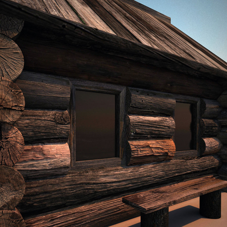 Old Wooden House royalty-free 3d model - Preview no. 9