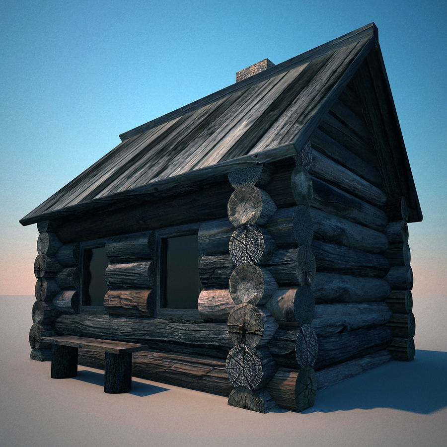 Old Wooden House royalty-free 3d model - Preview no. 3