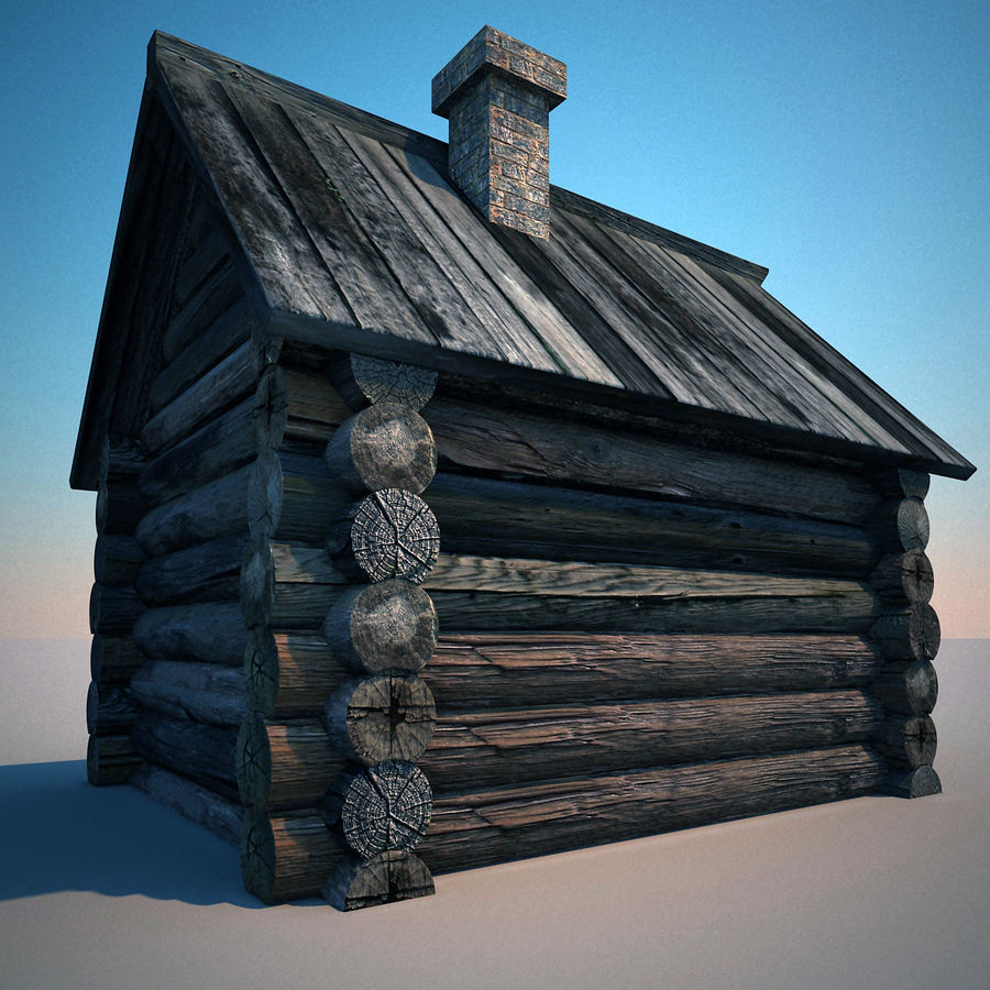 Old Wooden House royalty-free 3d model - Preview no. 4
