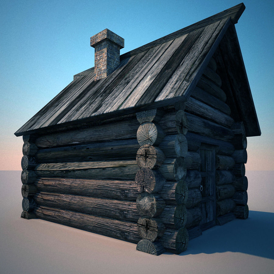 Old Wooden House royalty-free 3d model - Preview no. 5