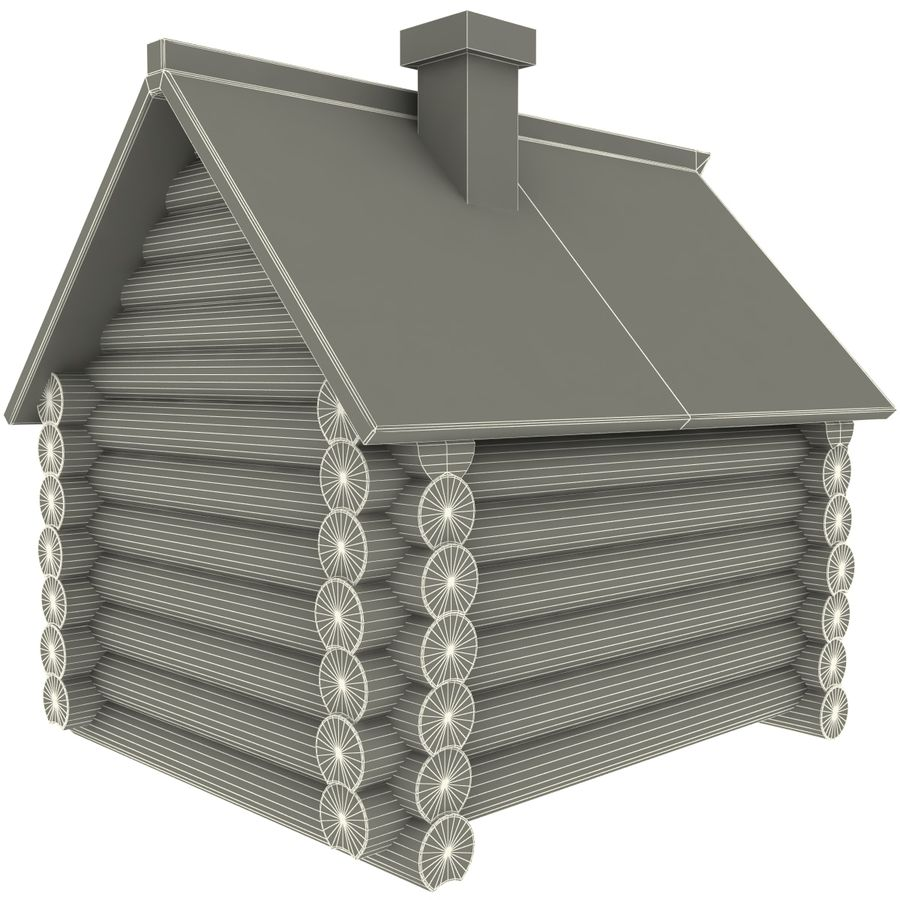 Old Wooden House royalty-free 3d model - Preview no. 13
