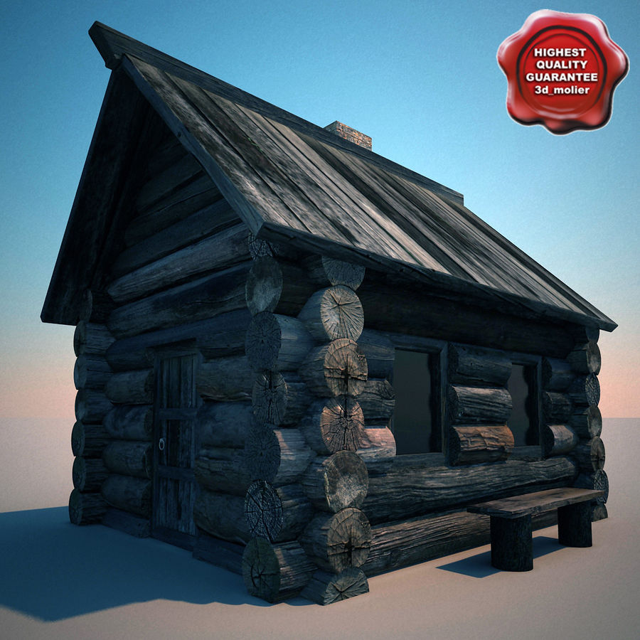 Old Wooden House royalty-free 3d model - Preview no. 1