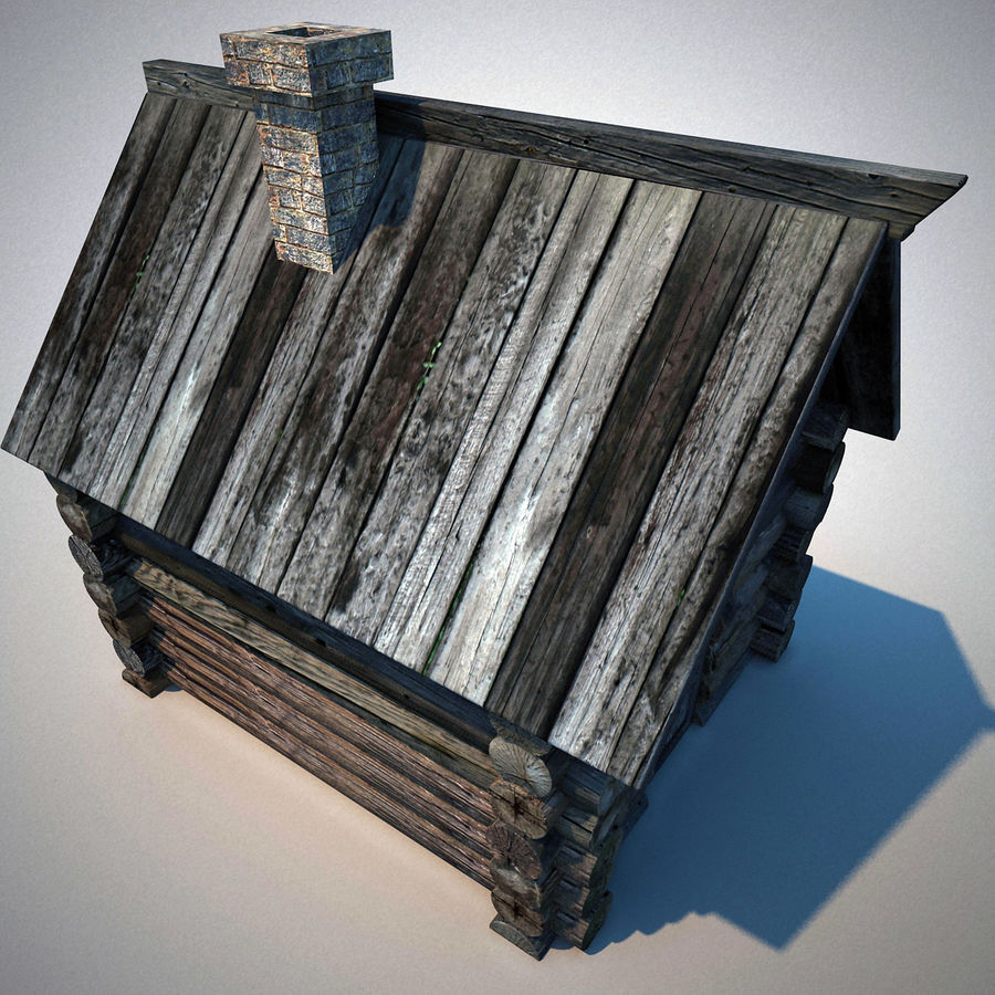 Old Wooden House royalty-free 3d model - Preview no. 6