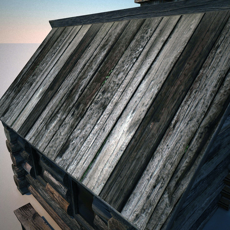 Old Wooden House royalty-free 3d model - Preview no. 10