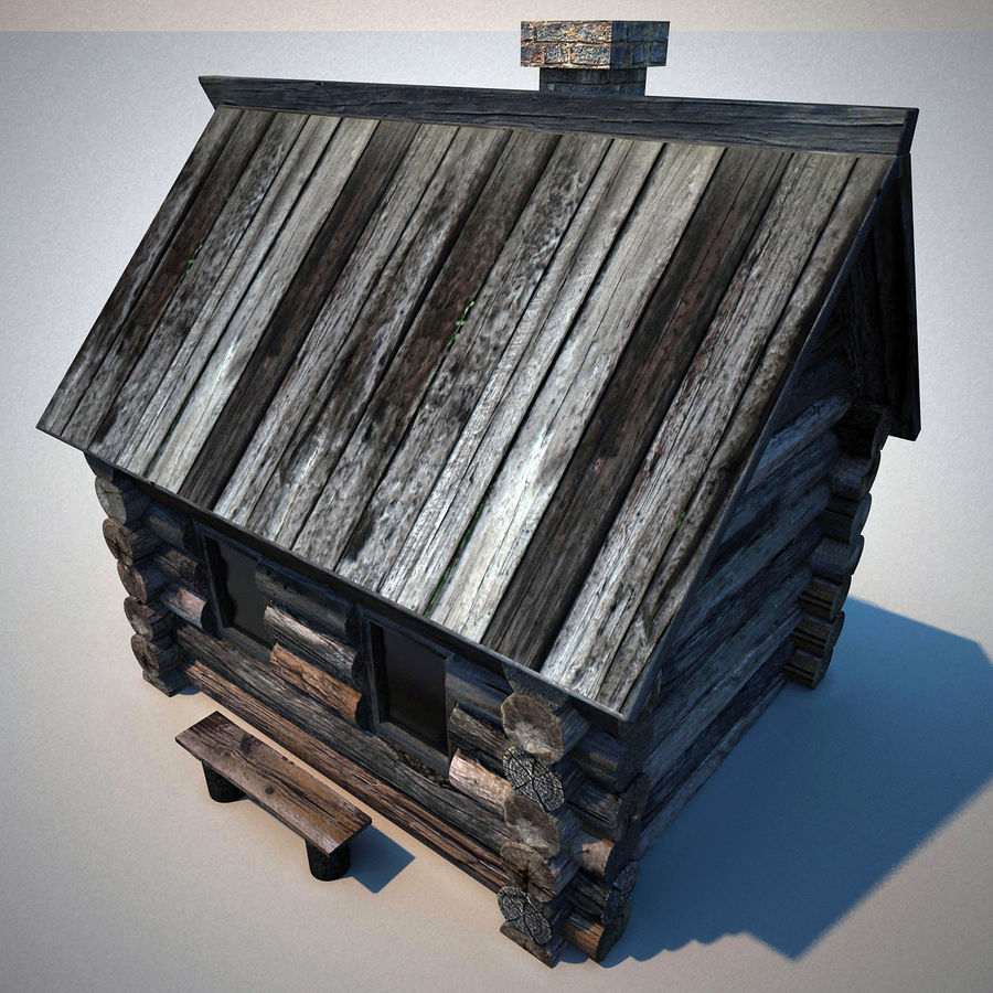 Old Wooden House royalty-free 3d model - Preview no. 7