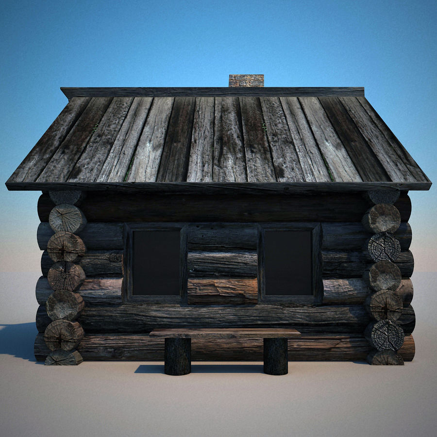 Old Wooden House royalty-free 3d model - Preview no. 2