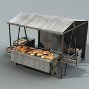 Marketstall Bread lowpoly 3d model