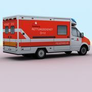 2011メルセデス救急車ドイツ 3d model