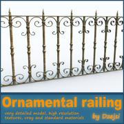 Ornamental railing 3d model