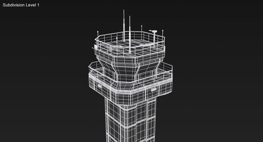 Air Traffic Control Tower royalty-free 3d model - Preview no. 18