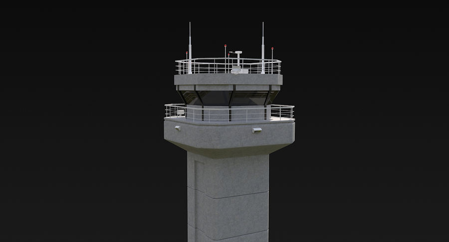 Air Traffic Control Tower royalty-free 3d model - Preview no. 9