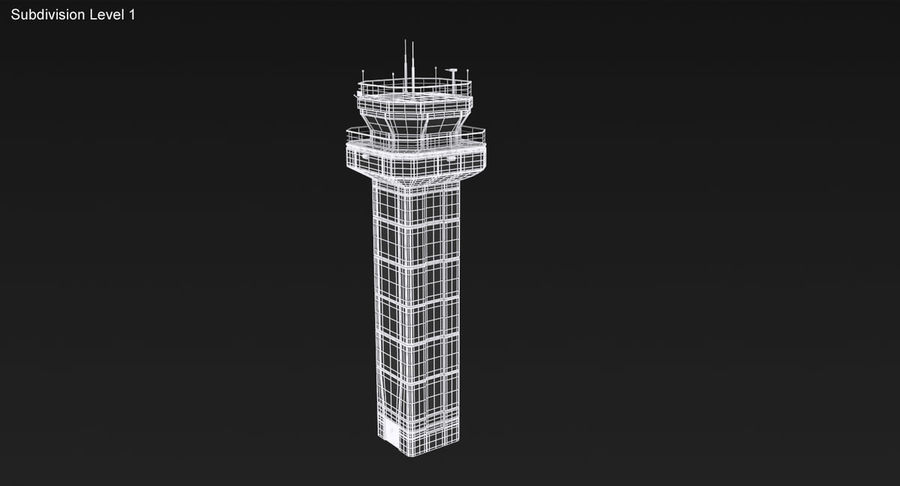 Air Traffic Control Tower royalty-free 3d model - Preview no. 16