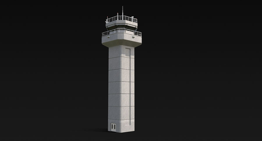 Air Traffic Control Tower royalty-free 3d model - Preview no. 3