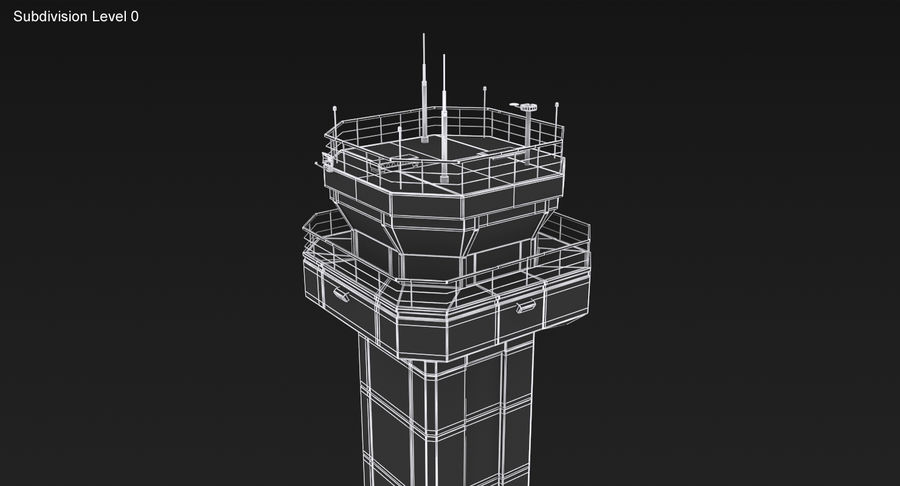 Air Traffic Control Tower royalty-free 3d model - Preview no. 19