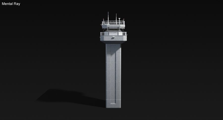 Air Traffic Control Tower royalty-free 3d model - Preview no. 12
