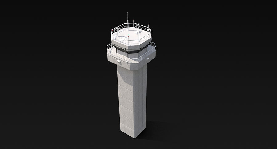 Air Traffic Control Tower royalty-free 3d model - Preview no. 7