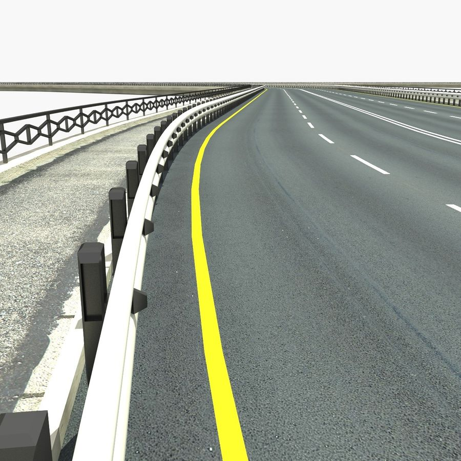 Roads royalty-free 3d model - Preview no. 2
