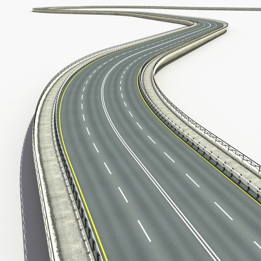 Roads royalty-free 3d model - Preview no. 1