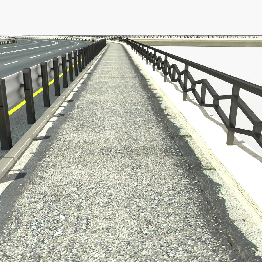Roads royalty-free 3d model - Preview no. 9