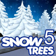 Snow Tree Collection 5 Trees 3d model