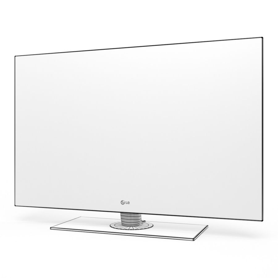 TV LCD LED LG royalty-free 3d model - Preview no. 6