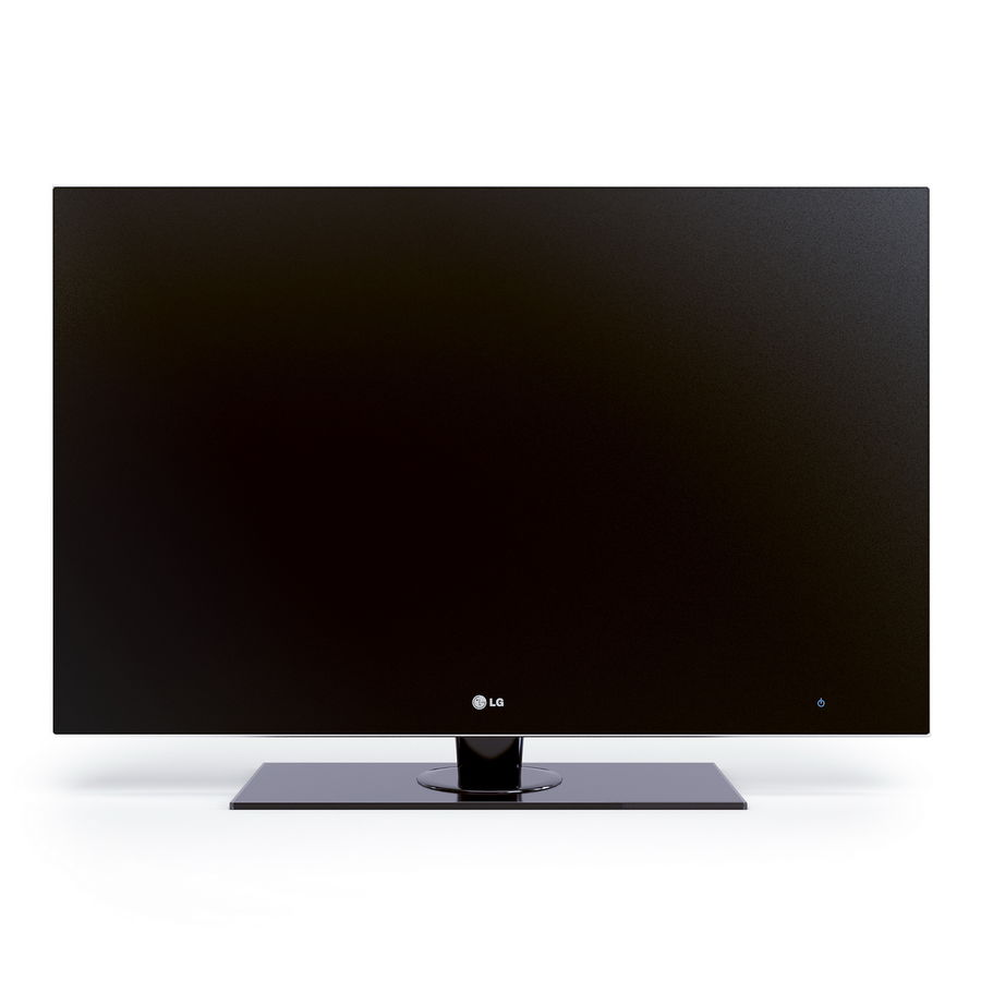 TV LCD LED LG royalty-free 3d model - Preview no. 2