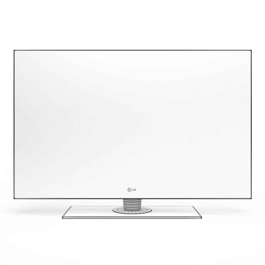 TV LCD LED LG royalty-free 3d model - Preview no. 5