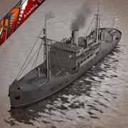 Whaling ship 3d model