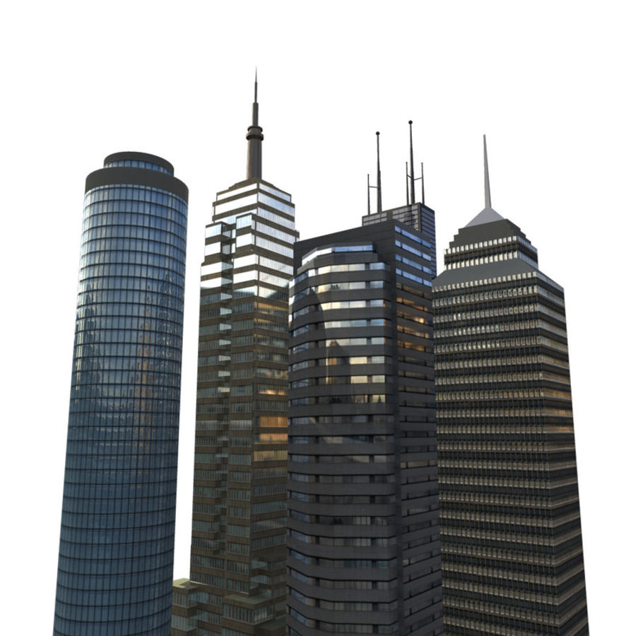 Edifícios da cidade royalty-free 3d model - Preview no. 1