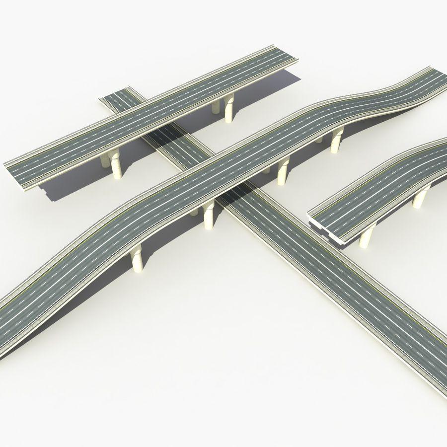 Bridges Roads royalty-free 3d model - Preview no. 3