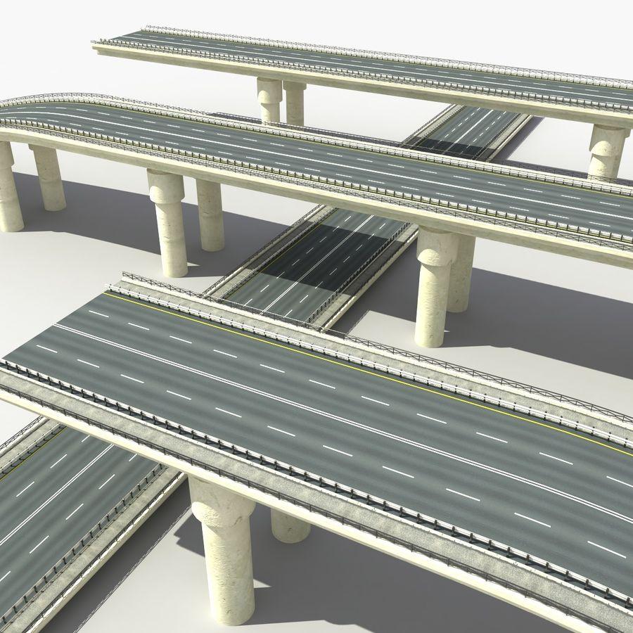 Bridges Roads royalty-free 3d model - Preview no. 10