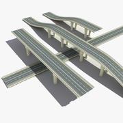 桥梁道路 3d model