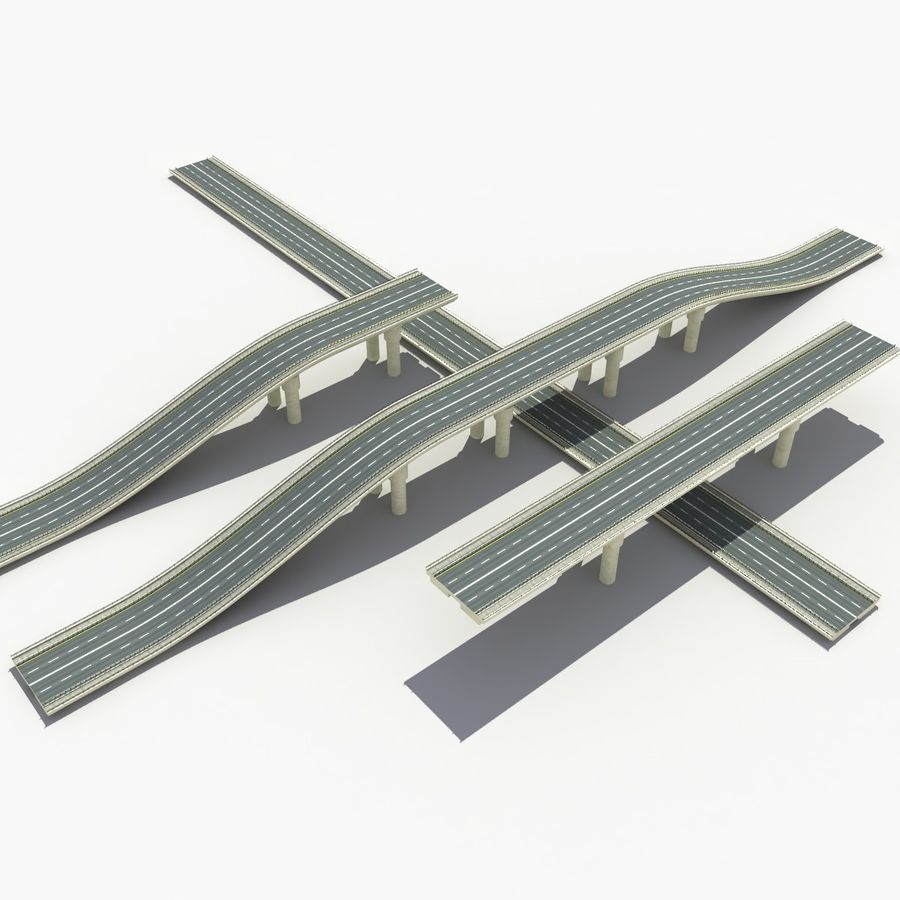 Bridges Roads royalty-free 3d model - Preview no. 4