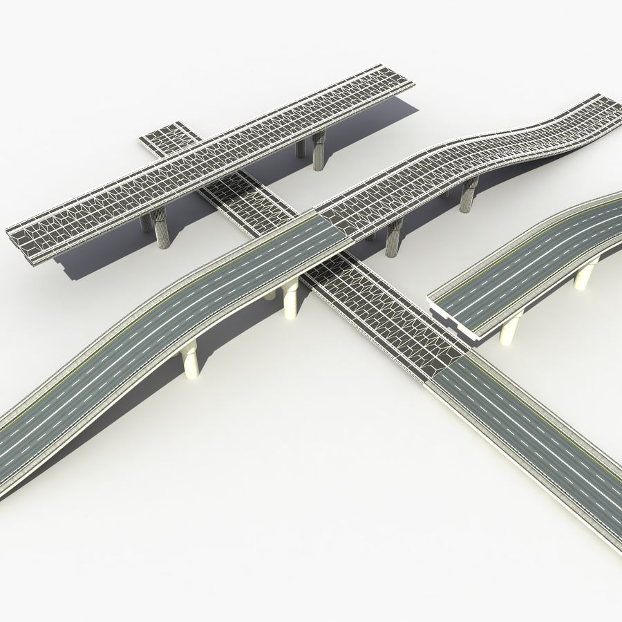 Bridges Roads royalty-free 3d model - Preview no. 11