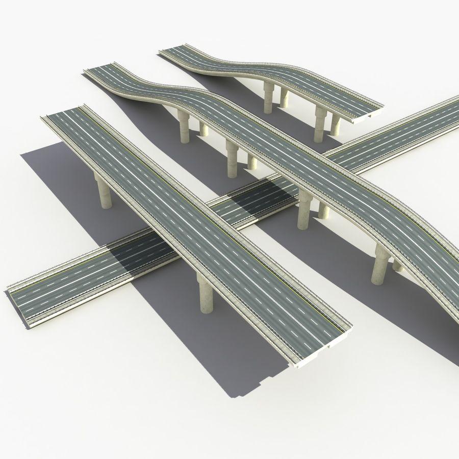 Bridges Roads royalty-free 3d model - Preview no. 2
