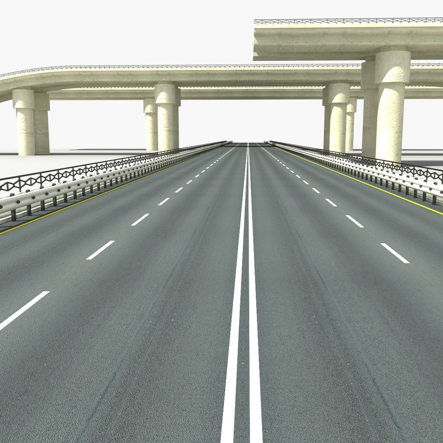 Bridges Roads royalty-free 3d model - Preview no. 9