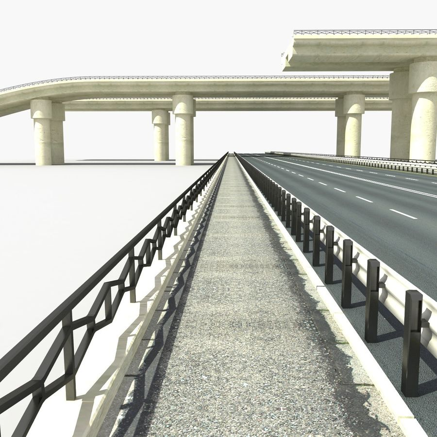 Bridges Roads royalty-free 3d model - Preview no. 8