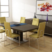 Dining room interior 01A 3d model