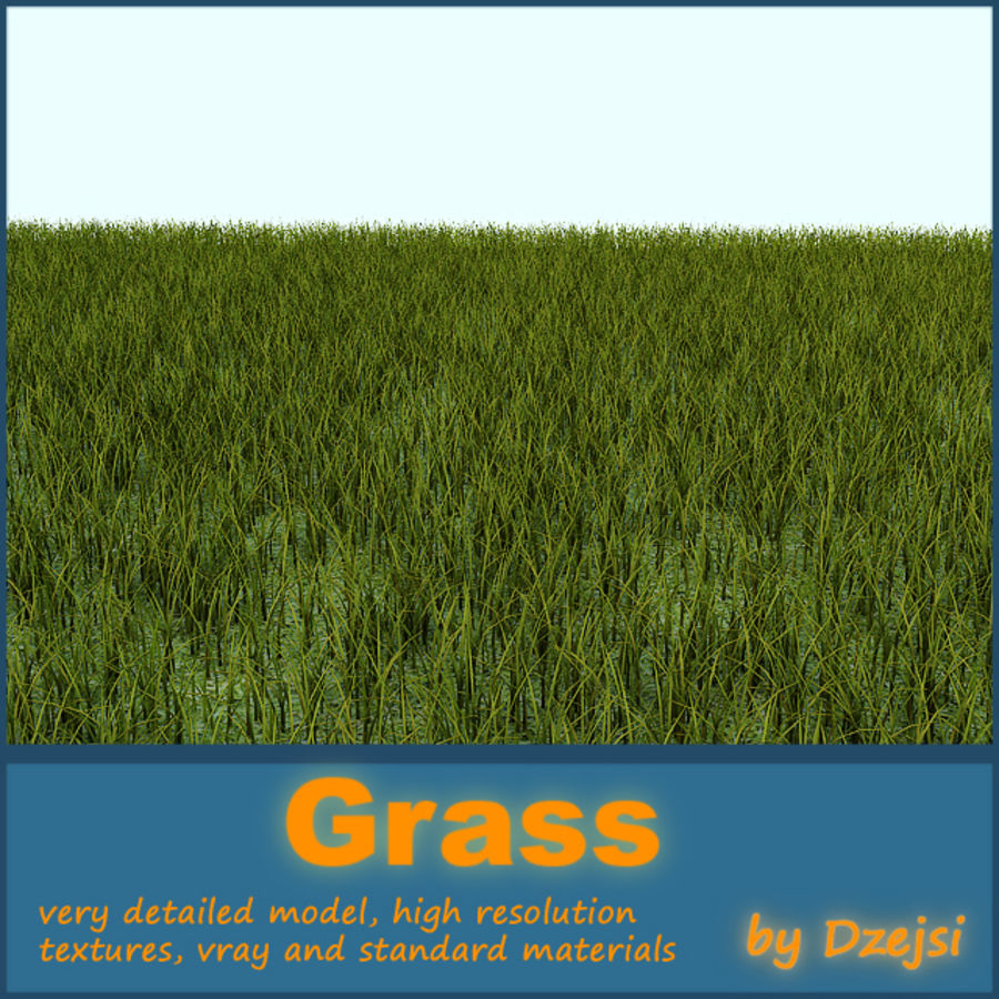 Grass tiled royalty-free 3d model - Preview no. 1