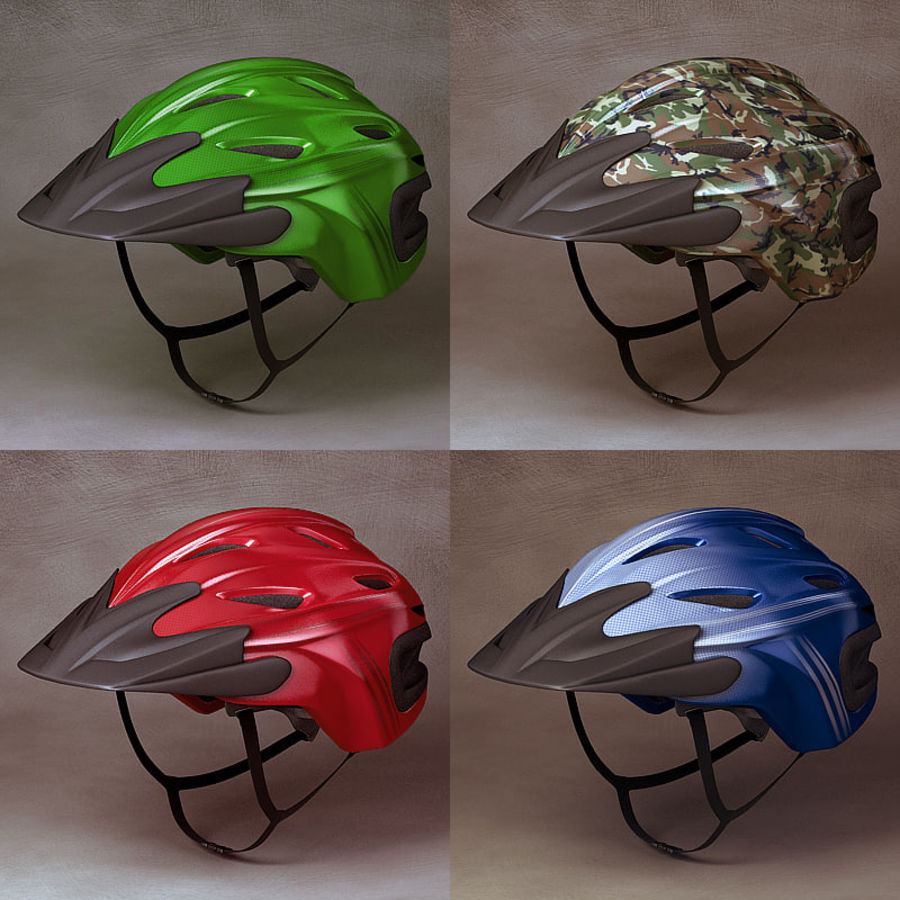 Bicycle Helmet royalty-free 3d model - Preview no. 5