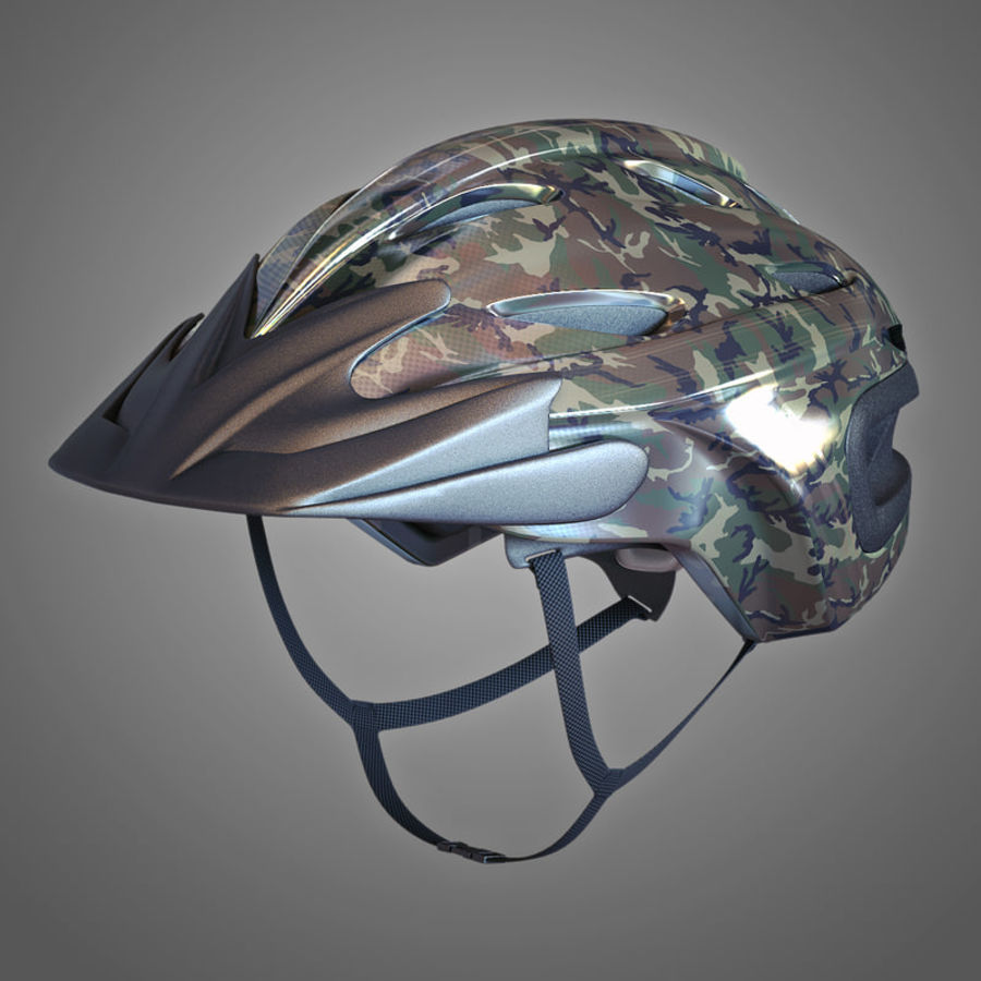 Bicycle Helmet royalty-free 3d model - Preview no. 3