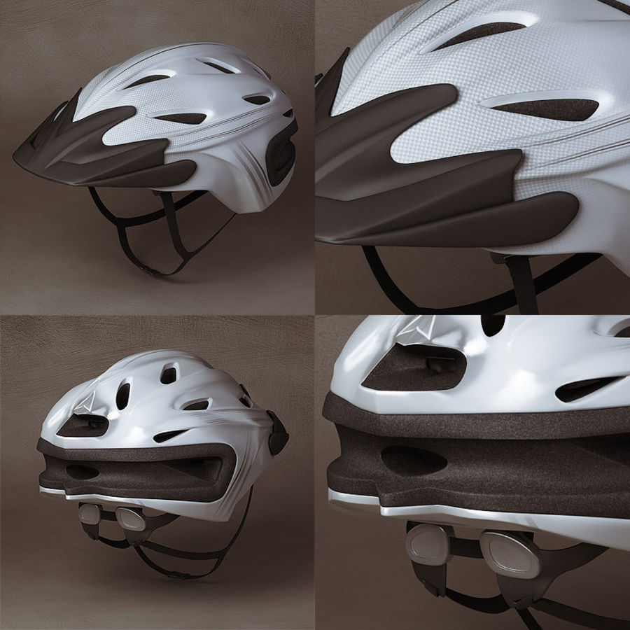 Bicycle Helmet royalty-free 3d model - Preview no. 4