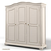 Savio Firmino classic traditional wardrobe cabinet 3d model