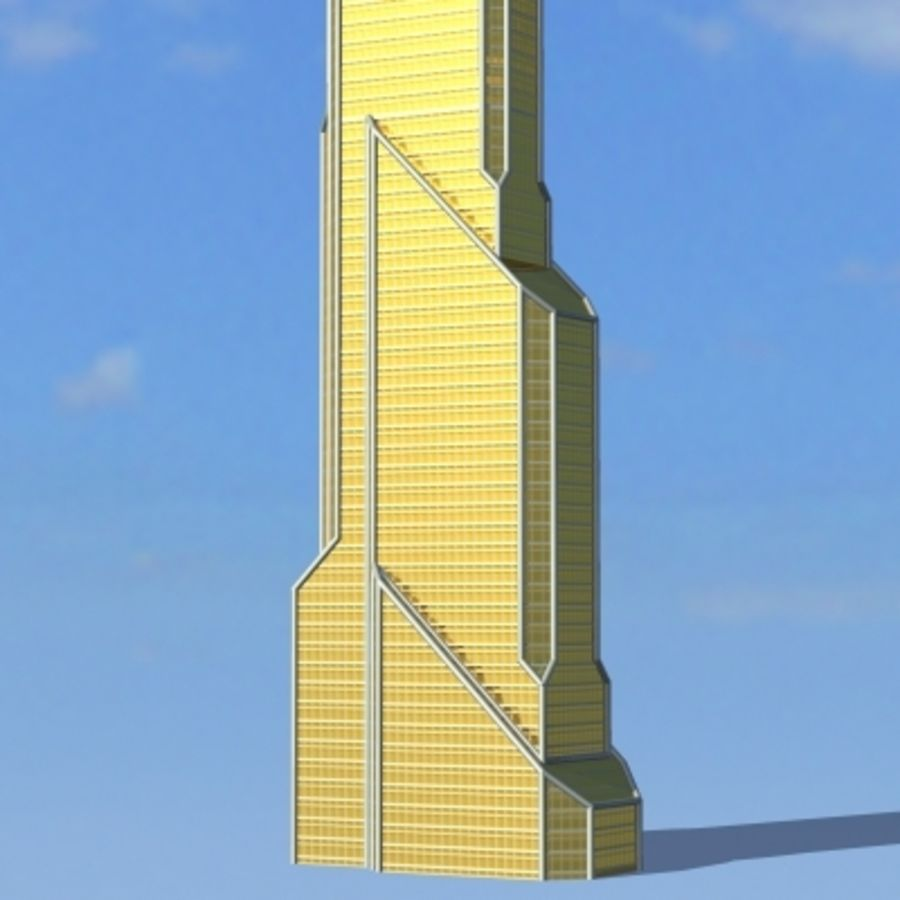 Skyscraper 005 royalty-free 3d model - Preview no. 3