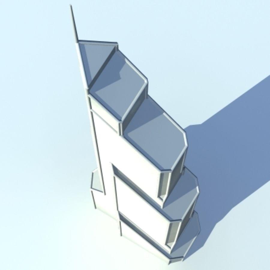 Skyscraper 005 royalty-free 3d model - Preview no. 6