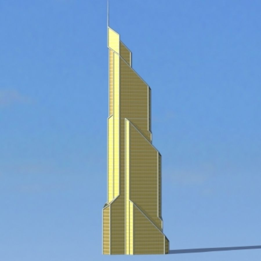 Skyscraper 005 royalty-free 3d model - Preview no. 2